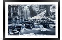 Frozen Scaleber Force Falls, Framed Mounted Print