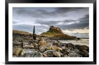 Path to Lindisfarne Castle, Framed Mounted Print