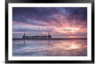 Ribble Remnants Sunset Ripples, Framed Mounted Print