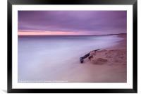 Monterey Beach Sunset, Framed Mounted Print