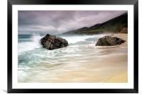 Garrapata Beach, CA, Framed Mounted Print