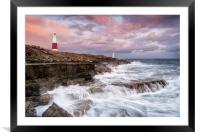 Stormy Sunset at Portland Bill, Framed Mounted Print
