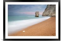 The Stack at Bats Head, Durdle Door, Framed Mounted Print