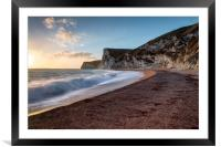 The path to Bats Head, Framed Mounted Print