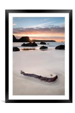 Kynance Cove Sunrise, Framed Mounted Print