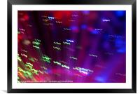 Colour Motion, Framed Mounted Print