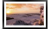 Hathersage Moor Sunrise, Framed Mounted Print