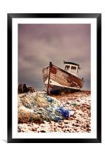 Fishing Boat, Framed Mounted Print