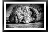 Ear to the ground, Framed Mounted Print