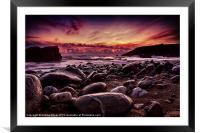 Sunset at Dollar, Framed Mounted Print