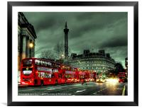 Red buses and Routemaster, Framed Mounted Print