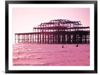 Pierside Paddle, Framed Mounted Print