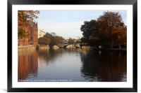 River in Bedord, Framed Mounted Print