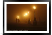 Misty Walk, Framed Mounted Print