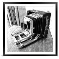 Vintage Camera, Framed Mounted Print