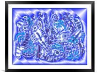 Blue Bracken, Framed Mounted Print