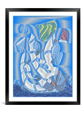 Full Sails to the Wind, Framed Mounted Print