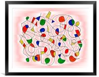 Clown Memory Cells pink, Framed Mounted Print