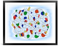 Clown Memory Cells blue, Framed Mounted Print