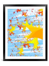 Migrating Autumn Leaves, Framed Mounted Print