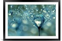 Blue Sparkles, Framed Mounted Print