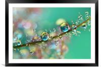 Smokey Rainbow Drops, Framed Mounted Print