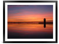 Brightlingsea, Essex, sunset, Framed Mounted Print