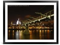 London, Millennium Bridge , Framed Mounted Print
