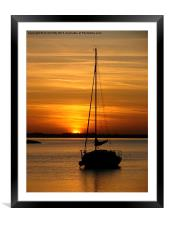 Alresford Creek, Essex, Sunset, Framed Mounted Print