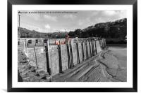 The harbour wall at Ilfracombe, Framed Mounted Print