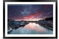 Weymouth at Sunrise, Framed Mounted Print