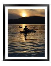 Sunset, Framed Mounted Print