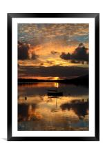 Sunset in Dingle, Framed Mounted Print