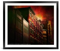 City Lofts, Framed Mounted Print