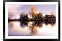 Autumn Pond, Framed Mounted Print