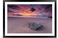 Stone at Sunrise, Framed Mounted Print