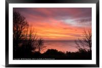 Sunrise over St Marys, Framed Mounted Print