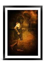 A brave little soul heading home, Framed Mounted Print