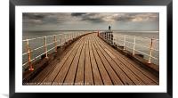 Whitby West Pier, Framed Mounted Print