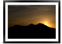 Scots View sunset, Framed Mounted Print