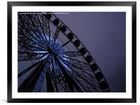 Blue Star Wheel, Framed Mounted Print