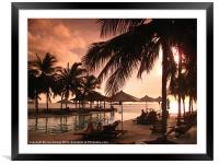 Chill Out Pool, Framed Mounted Print