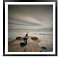 Posts into the Sea, Framed Mounted Print