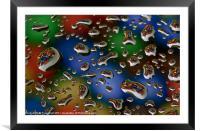 Color Drops, Framed Mounted Print