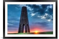Daymark sunset, Framed Mounted Print