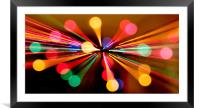 Abstract Bokeh, Framed Mounted Print
