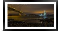 Queensferry Crossing and Forth Road Bridge, Framed Mounted Print