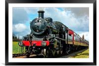 Steam Locomotive 46521, Framed Mounted Print