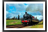 Steam Loco 46521, Framed Mounted Print