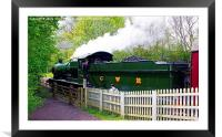 Steam Locomotive At Shackerstone, Framed Mounted Print